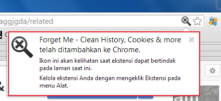 Hapus Data Browsing di Google Chrome dengan Forget Me