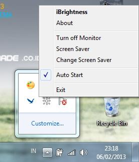 Atur Kecerahan Monitor Langsung dari Taskbar Windows dengan iBrightness