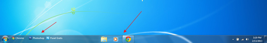 Cara Mudah Membuat Icon Program Berada di Tengah Taskbar