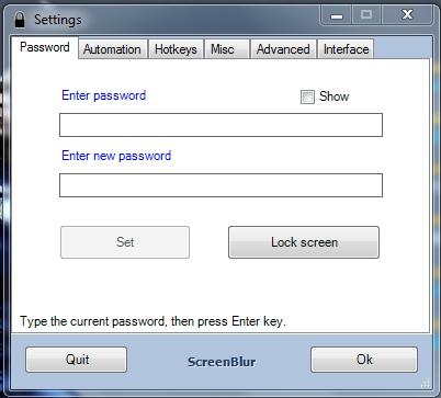 Lindungi Desktop Windows dengan Menggunakan ScreenBlur