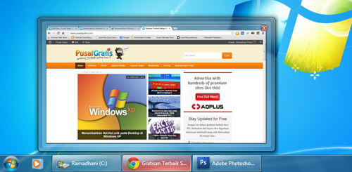 Menampilkan Kembali Window Title Taskbar di Windows 7
