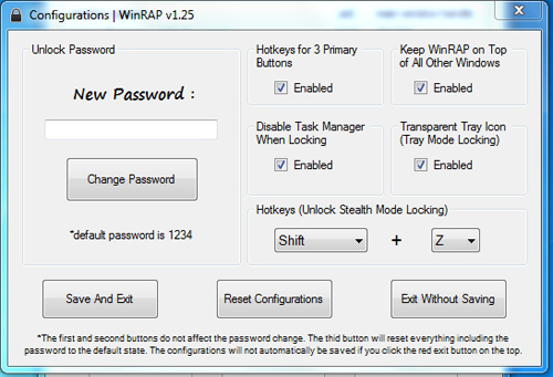 Cara Menyembunyikan Jendela Program dengan WinRAP