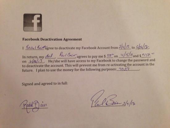 Pelajar Ini Rela Tidak Akan Menggunakan Facebook Lagi dengan $200 Sebagai Hadiahnya