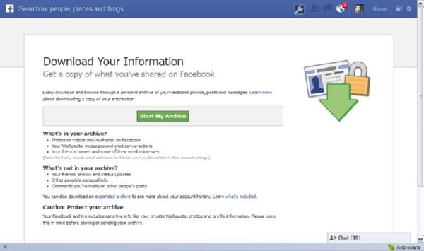 Tutorial Mendownload Isi Akun Facebook Kamu