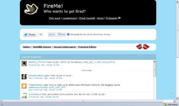 FireMe! Kumpulan Twit Karyawan yang Stress akan Pekerjaannya
