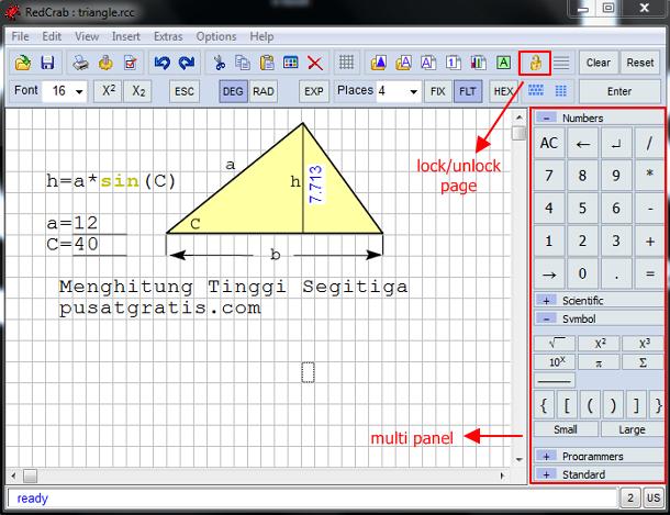 RedCrab, Kalkulator Ilmiah dan Statistik dengan Fitur Editor Rumus