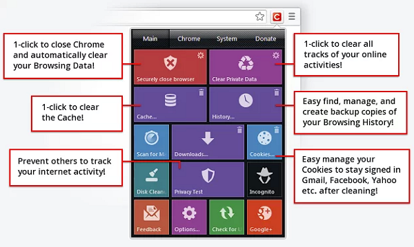 Bersihkan Semua Aktifitas Onlinemu di Google Chrome dengan Click&Clean
