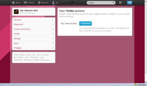 Manfaatkan Fasilitas Twitter Archives untuk Bernostalgia dengan Twit Lama Kamu