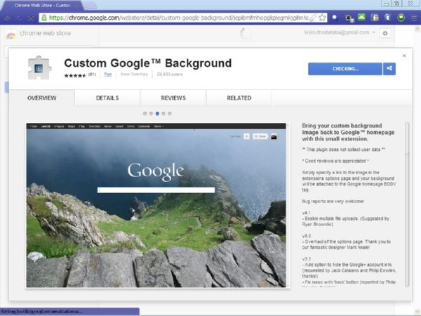 Mengganti Background Google Search dengan Custom Google Background Extension