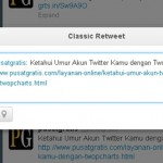 Membalas Tweet Lebih Mudah dengan Classic Retweet