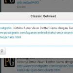 Membalas Tweet Lebih Mudah dengan Classic Retweet