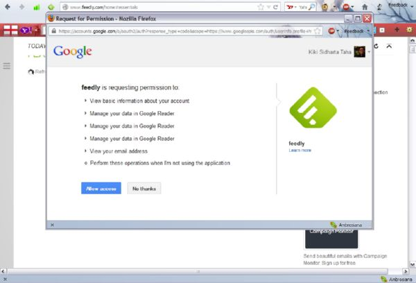Feedly: Alternatif Google Reader yang Praktis