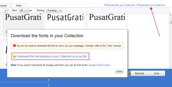 Cara Menggunakan Font dari Google Web Fonts di Windows
