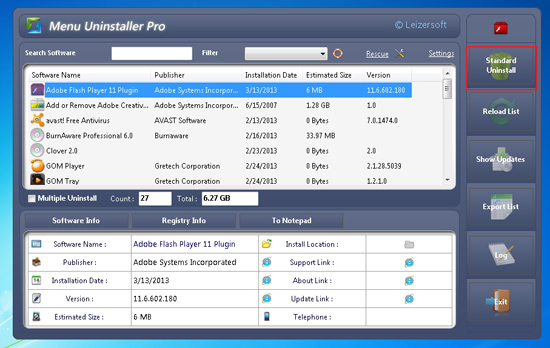 Menguninstall Software Lebih Mudah dengan Menu Uninstaller Pro