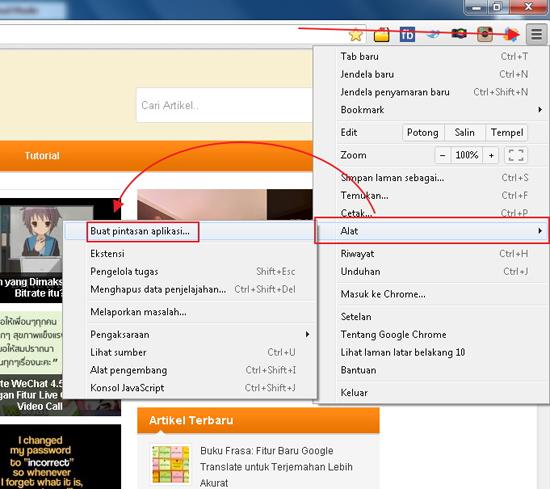Cara Menyimpan Halaman Website Menjadi Aplikasi Desktop