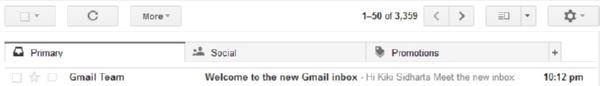 Fitur Baru di Gmail Inbox, Gmail Tabs!