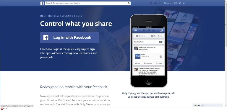 Sistem Facebook Login Baru - Memudahkan untuk Menggunakan Berbagai Aplikasi dan Website