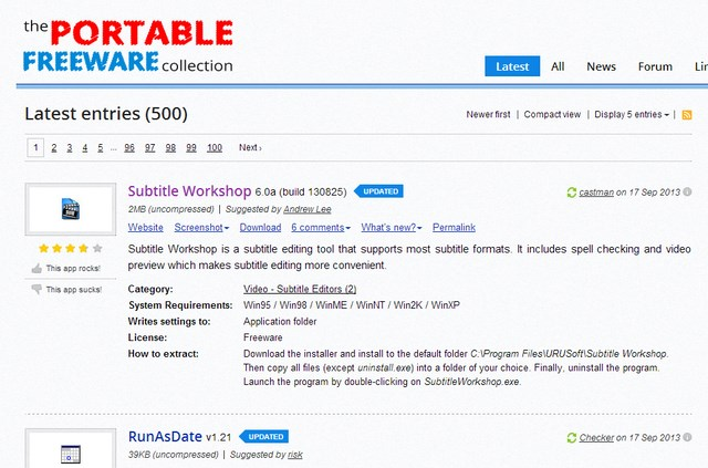 5 Website Terbaik untuk Mendownload Aplikasi Portable