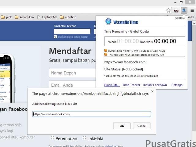 Cara Gampang Memblokir Situs dengan WasteNoTime di Chrome