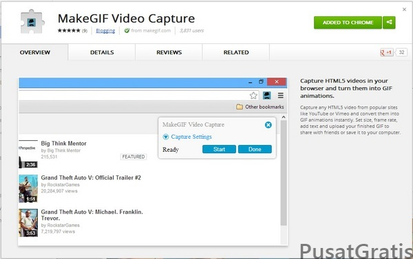 Cara Membuat Gambar Bergerak dari Video YouTube