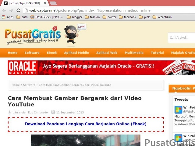 Cara Screenshot Full Web Tanpa Software Apapun