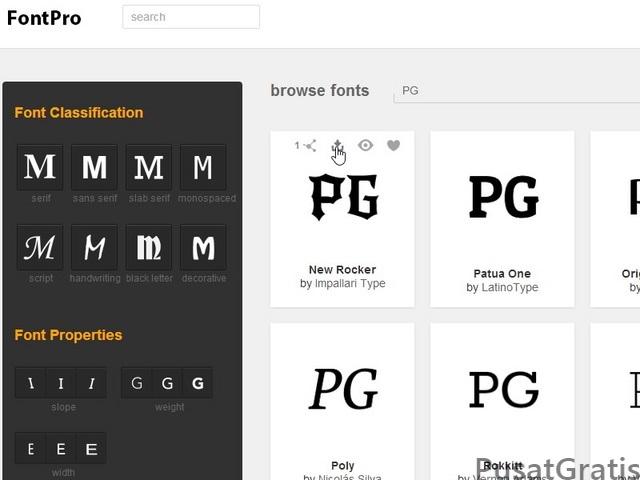 Download Font Keren dan Gratis dari FontPro