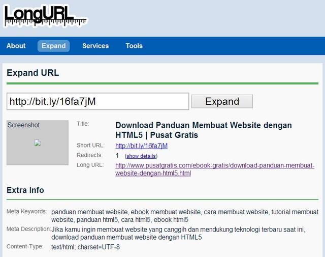 LongURL: URL Expander Terbaik untuk Melihat Isi Short URL