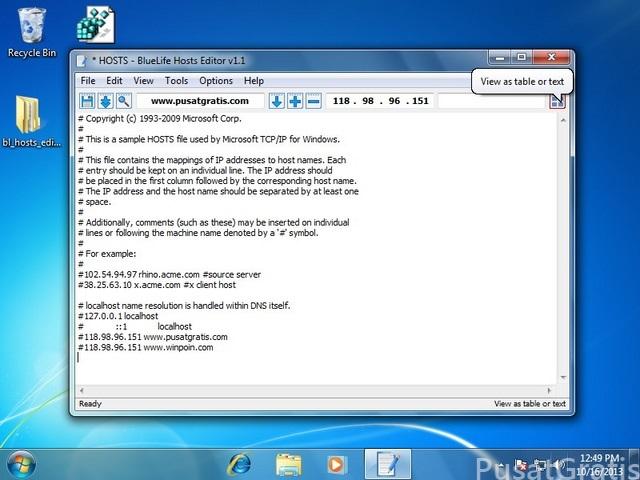 Cara Mudah Mengedit File Windows HOST dengan BlueLife Hosts Editor