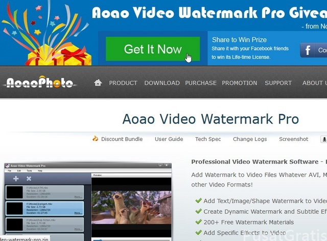 Download Aoao Video Watermark Pro: Menambahkan Watermark di Video (Senilai $34,95)