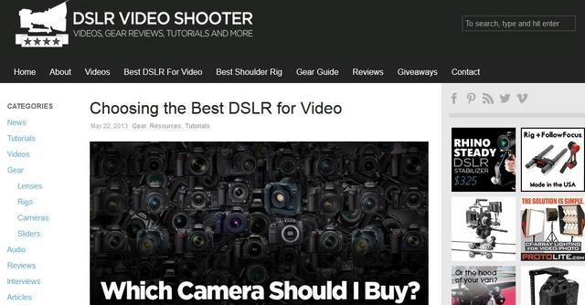 Situs Tutorial Shooting Video Menggunakan Kamera DSLR