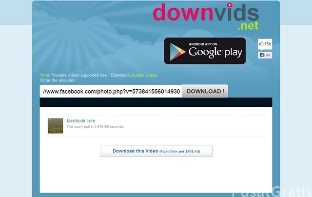 Cara Mendownload dari Video Facebook