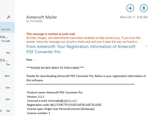 Download Gratis Aimersoft PDF Converter Pro Seharga $79.95