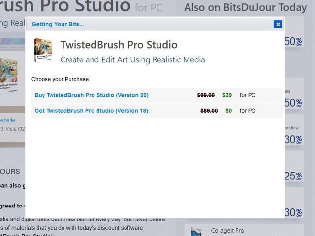 Download Giveaway TwistedBrush Pro Studio 18 seharga $89
