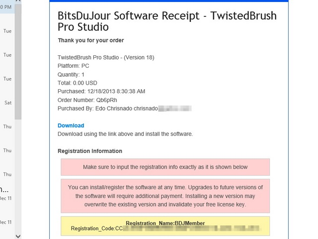 Download Giveaway TwistedBrush Pro Studio 18 seharga $89