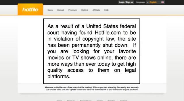 Hotfile Telah Dimatikan Karena Melanggar Copyright
