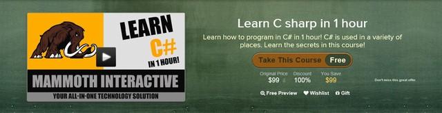 Dapatkan Panduan Membuat Program C# dalam 1 Jam (Video Senilai 1.2 juta)