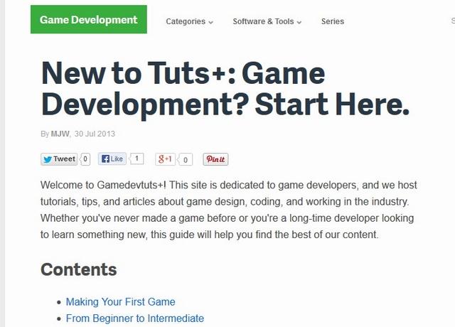 Situs Dasar Untuk Belajar Membuat Game
