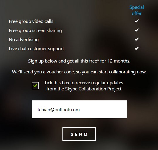 Dapatkan Voucher Skype Premium untuk Video Call dan Screen Sharing (Senilai 1.2 juta)