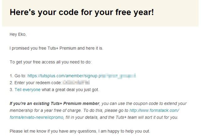 Dapatkan Membership TutsPlus Premium Selama 1 Tahun Penuh (Senilai 2.1 Juta Rupiah!)
