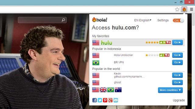 Mengakses Situs Populer yang Memblokir Pengunjung Indonesia dengan Hola!