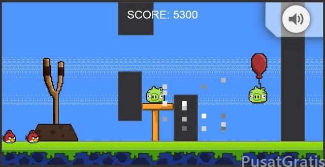 Ayo Main Game Angry Bird Dengan Tampilan Lawas Retro 8-Bit
