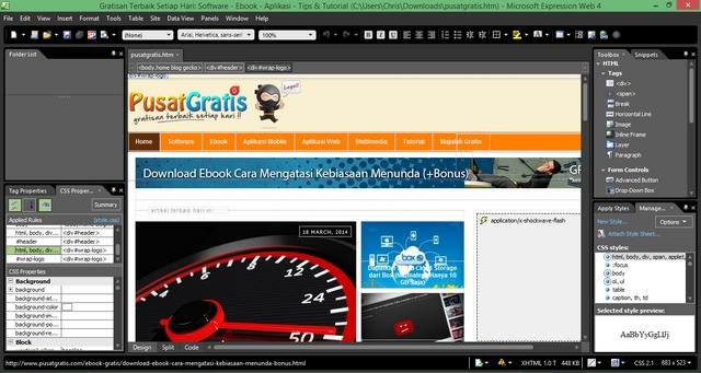 Microsoft Expression Web 4 dan Expression Design 4 Kini Bisa Didownload Secara Gratis