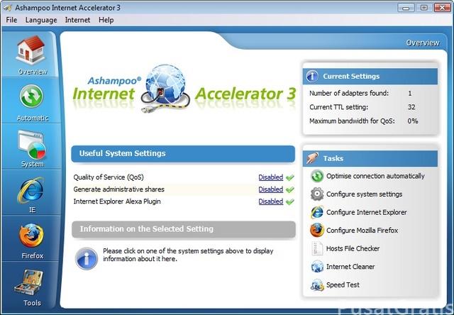 Trik Mempercepat Internet dengan Ashampoo Internet Accelerator 3