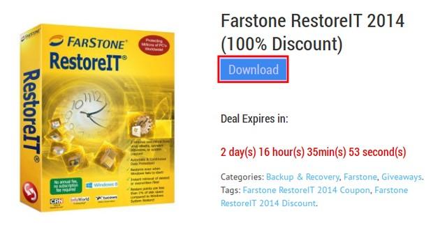 Dapatkan Lisensi Farstone RestoreIT 2014 Senilai 520 ribu
