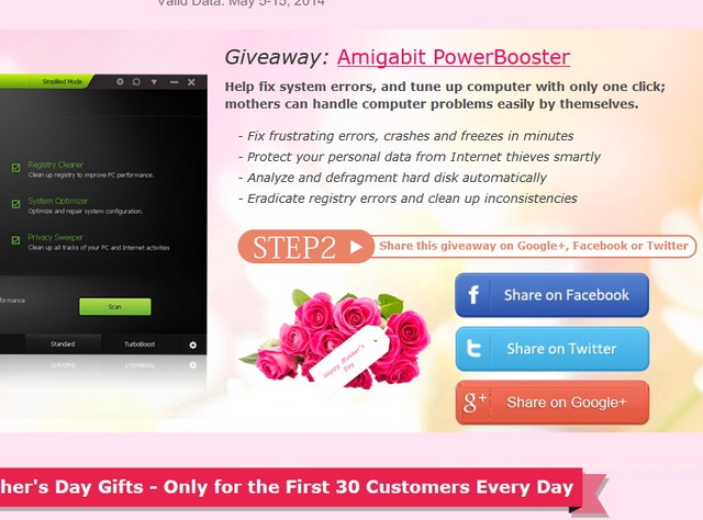 Giveaway Amigabit Powerbooster: Memperbaiki Komputer Dalam Satu Klik