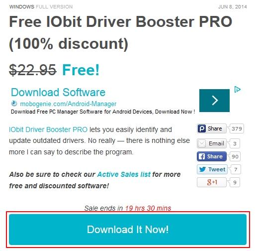 Dapatkan Lisensi Driver Booster Pro Senilai $22.95