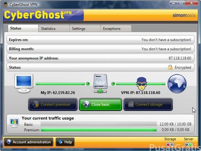Dapatkan Software Browsing Anonymous: Cyberghost Premium Seharga $18