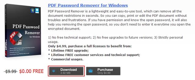 Dapatkan Lisensi PDF Password Remover Secara Gratis dan Legal