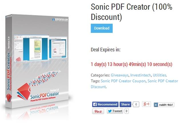 Inilah Cara Saya Mendapatkan Lisensi Sonic PDF Creator Secara Gratis dan Legal