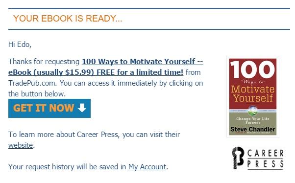 Dapatkan Ebook 100 Cara Memotivasi Diri Sendiri Senilai 195 Ribu (Gratis Terbatas!)